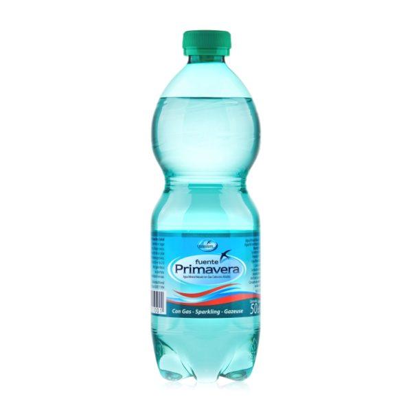 agua con gas de fuente primavera